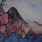 Her-scape series, My inner world with flowers  by Ellen Keagy