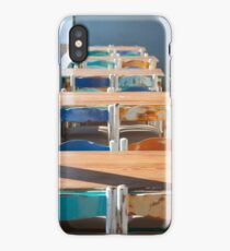 Wooden Table and Chairs iPhone Case/Skin