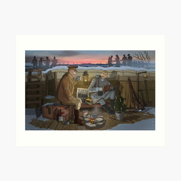 The Christmas Truce of 1914 Art Print