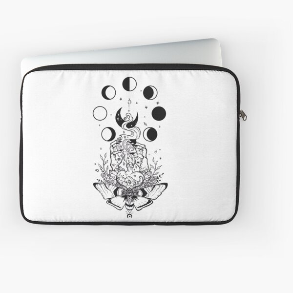 Witchy Vibes (Black & White) Laptop Sleeve