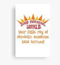 Sarcastic sunshine Canvas Print