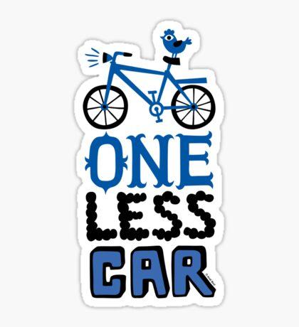 One Less Car Sticker