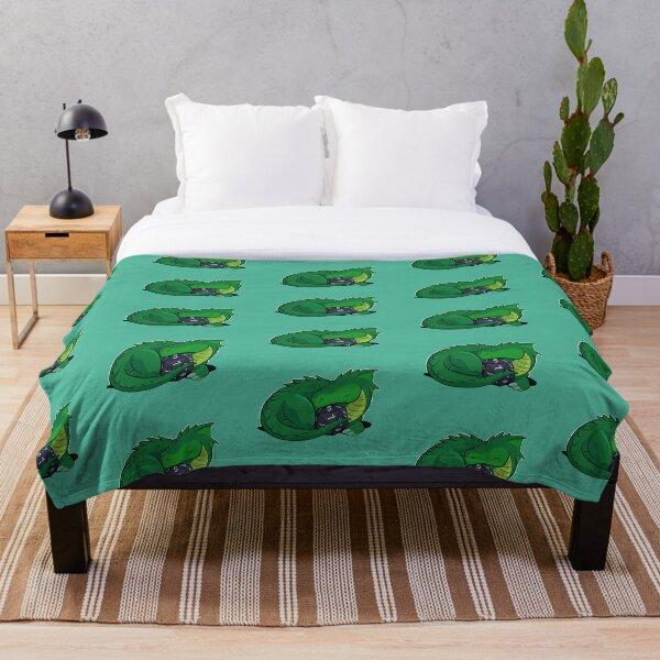 D20 Green Dragon Throw Blanket