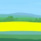 Oilseed Rape Field by Nigel Silcock