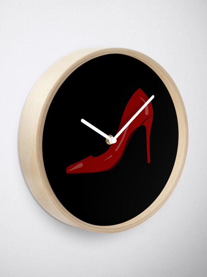 Alternate view of High heels,stiletto shoes drawing.Stay classy  Clock