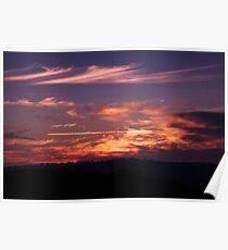 Anzac Sunrise ~ Beaufoy Merlin Lookout ~ Hill End Poster