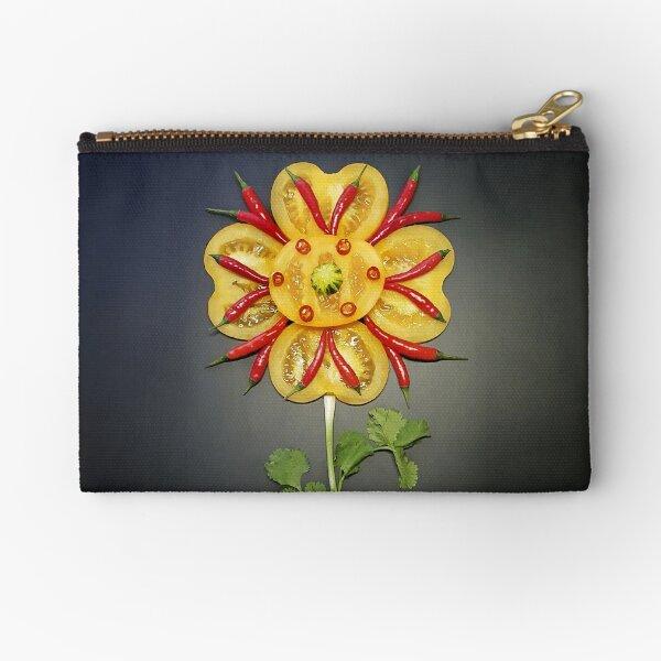 Chili Flower Zipper Pouch
