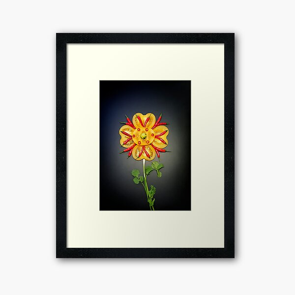 Chili Flower Framed Art Print