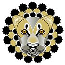 Lion tattoo - beautiful illustration of lions head with fantasy pattern by schtroumpf2510