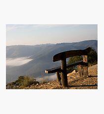 Bench on the Edge  Photographic Print