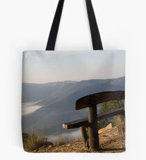 Bench on the Edge  Tote Bag