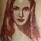 Angelina the lipstick girl by Midori Furze