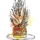 « Illustration chapeau ananas » par silowane