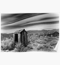 """""""Nowhere to Go"""" Bodie, Old Houses Poster"""
