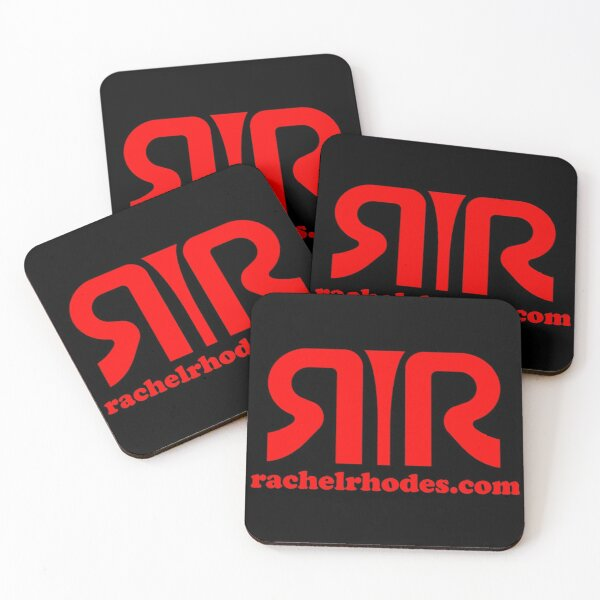 Copy of Logo Rachel Rhodes rouge Dessous de verre (lot de 4)
