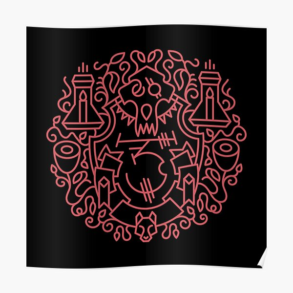 Hidden Wolf – Racial Crest Poster