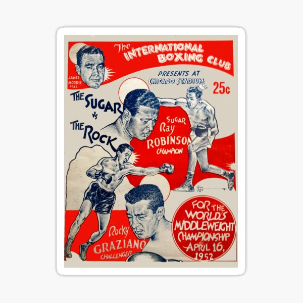 1952 Vintage Boxing Poster Sticker