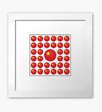 China Emoji JoyPixels Love Chinese Framed Print