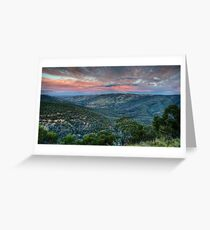 Sunset Blessed (Hill End) Greeting Card