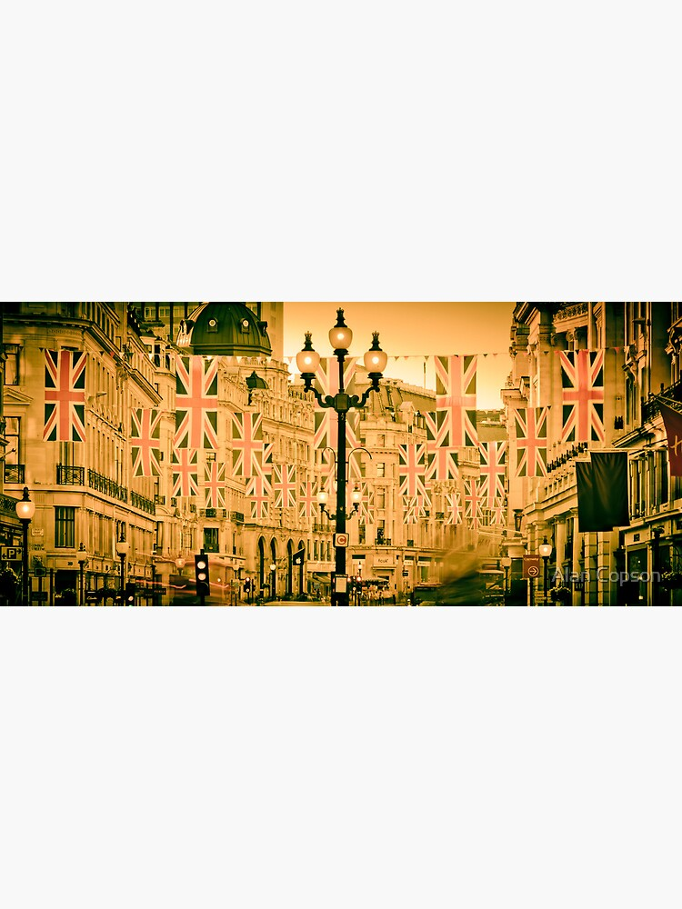 UK. London. Regent Street. Union Jack decorations for Royal Wedding. by AlanCopson