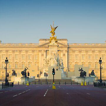 UK. London. Buckingham Palace. Union Jack decorations for Royal Wedding. by AlanCopson