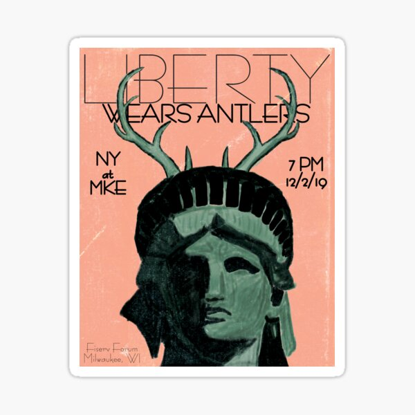 Liberty Wears Antlers Sticker