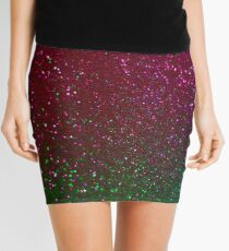 Purple green  glitter sparkle background Mini Skirt