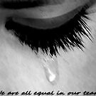 We are all equal in our tears. by Darren Stein