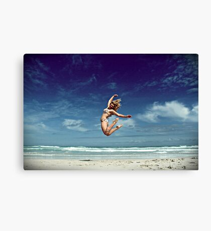 mountain and the sea Canvas Print