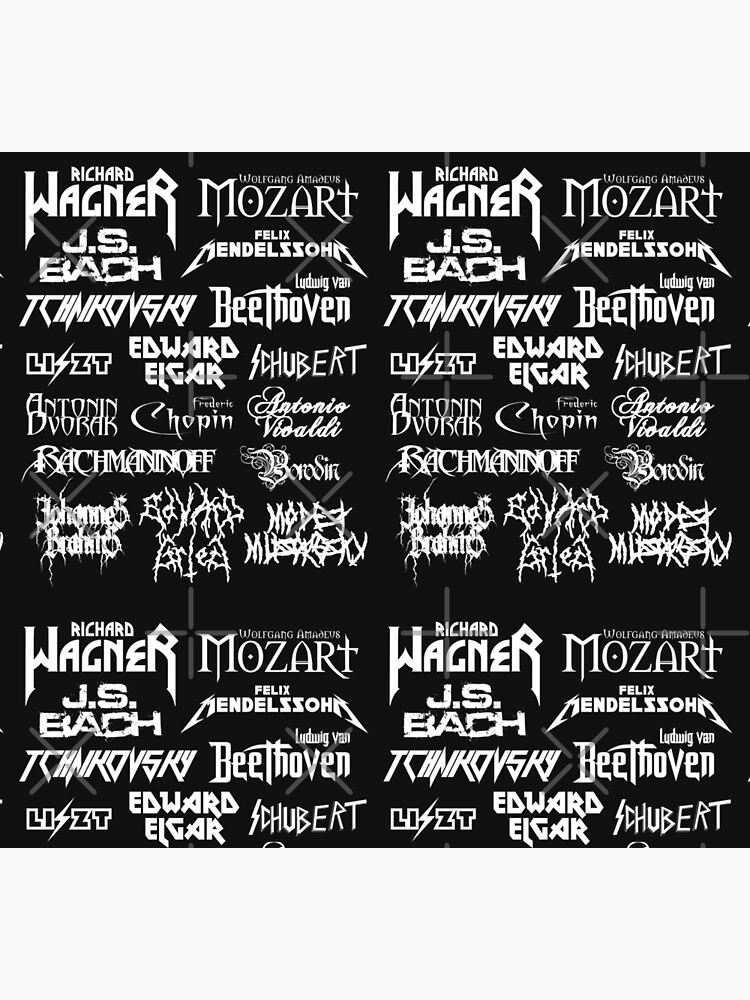 Heavy Metal-style Classical Composers by Ragetroll