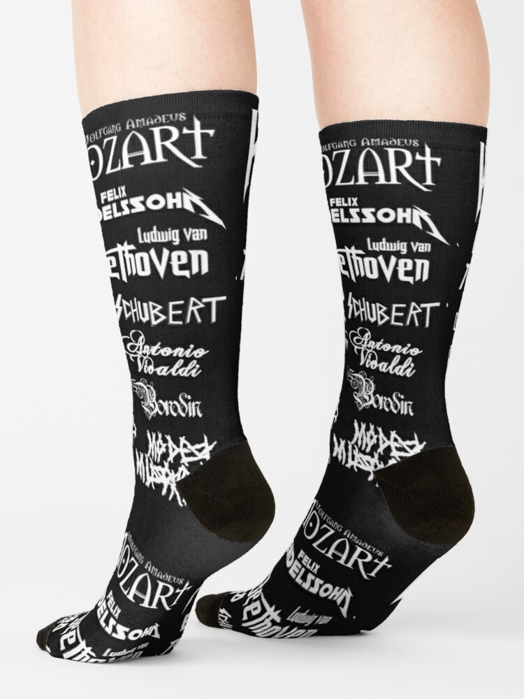 Alternate view of Heavy Metal-style Classical Composers Socks