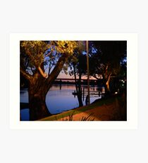 River Murray scene at Sunset, early Evening Art Print