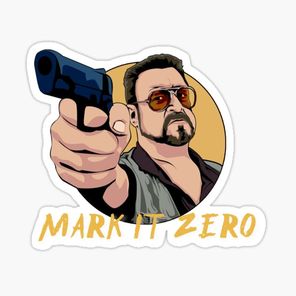 Mark it Zero T-Shirt Sticker