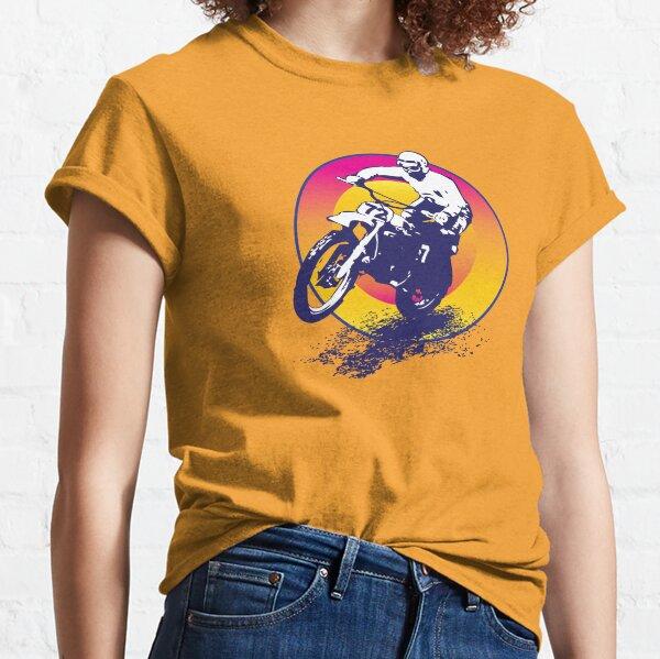 Motocross vintage Camiseta clásica