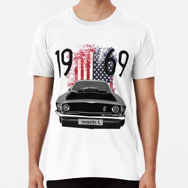 1969 Mustang Mach 1 American Premium T-Shirt