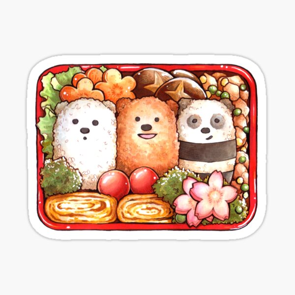 Bento Bears Sticker