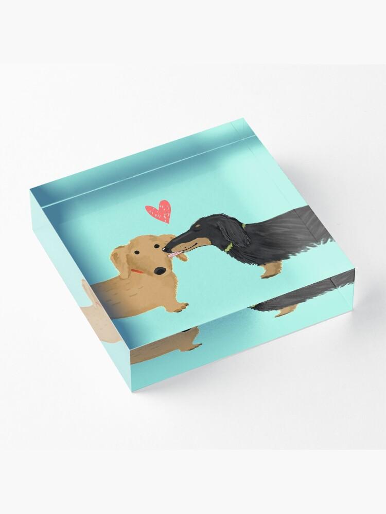 Alternate view of Dachshunds Love Acrylic Block