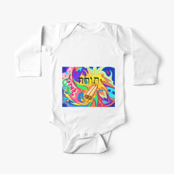 Torah Long Sleeve Baby One-Piece