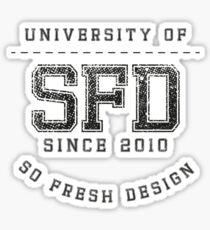 SoFresh Design - University of SoFresh Sticker