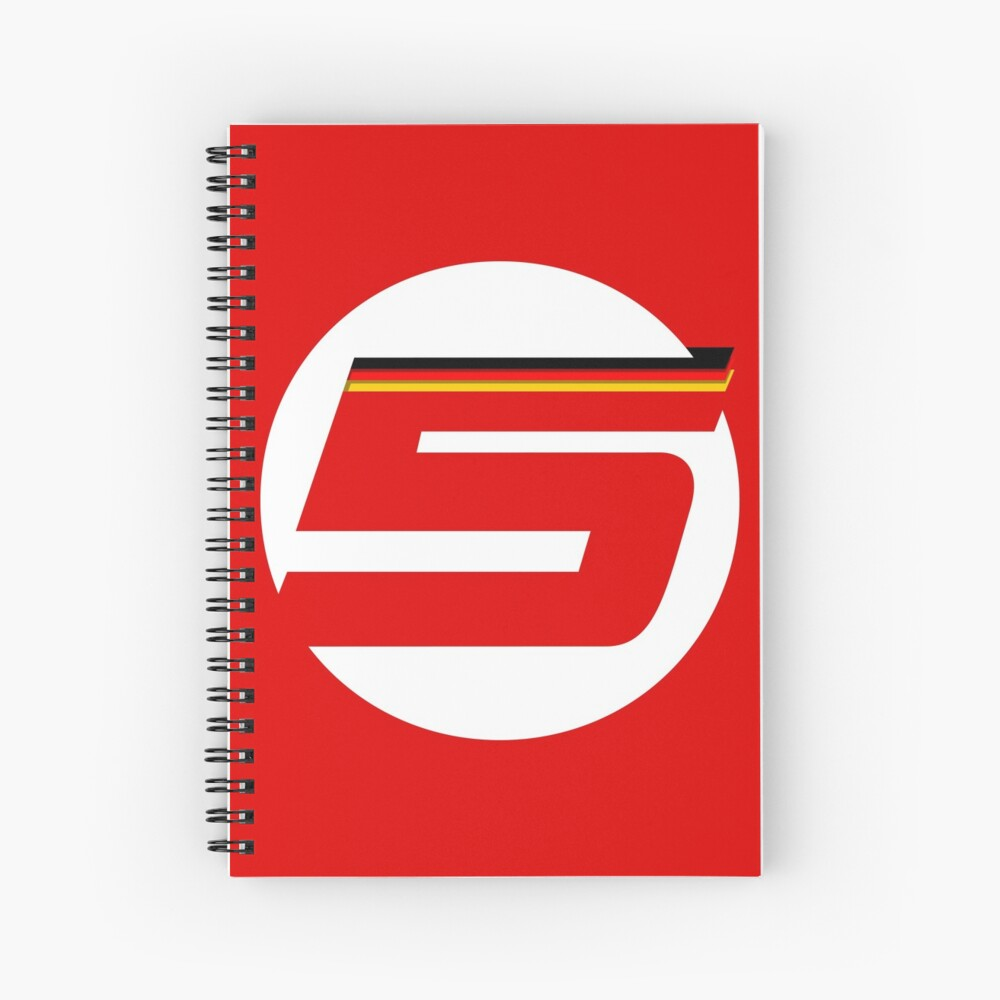 German '5' Logo - Big Spiral Notebook