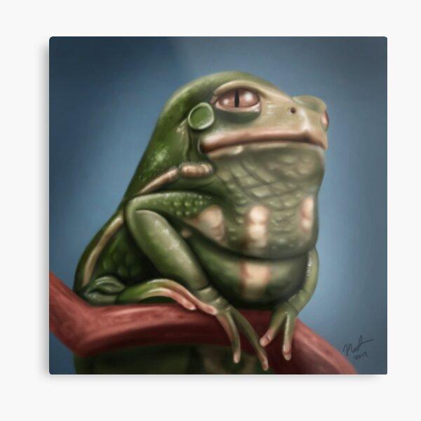 Grumpy Frog Metal Print