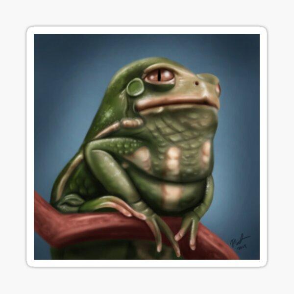 Grumpy Frog Glossy Sticker