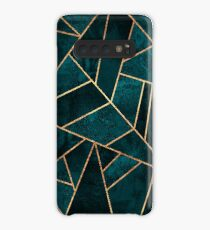 Deep Teal Stone Case/Skin for Samsung Galaxy