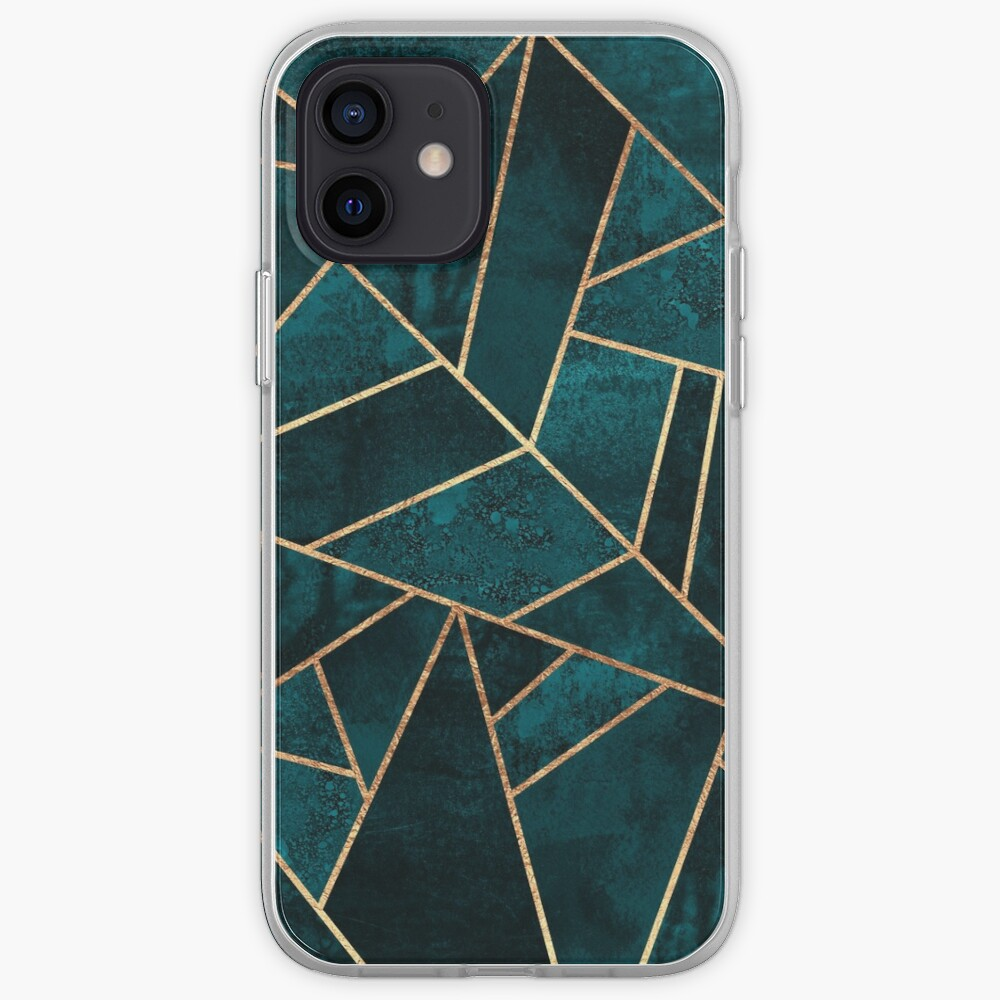 Deep Teal Stone iPhone Case & Cover