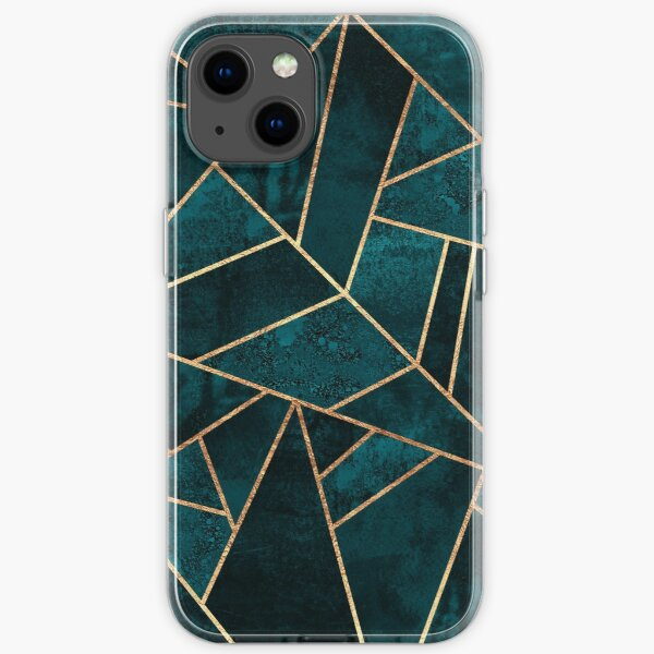Deep Teal Stone iPhone Soft Case