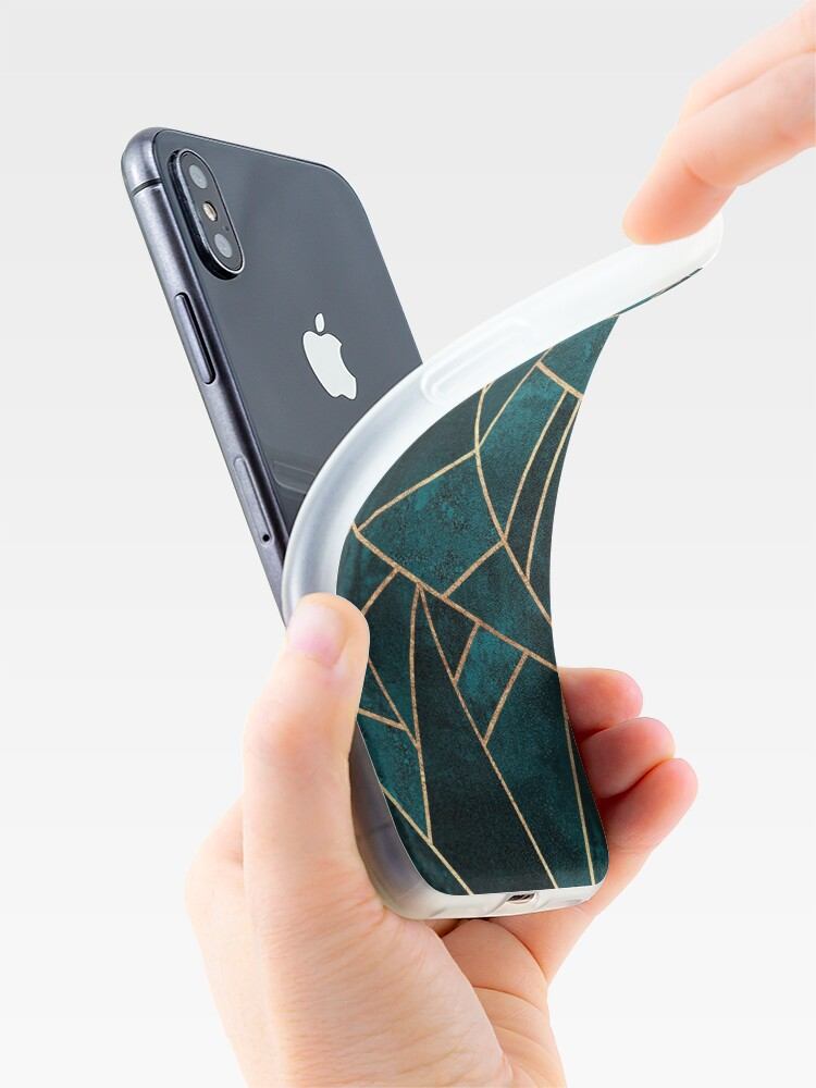 Alternate view of Deep Teal Stone iPhone Case & Cover