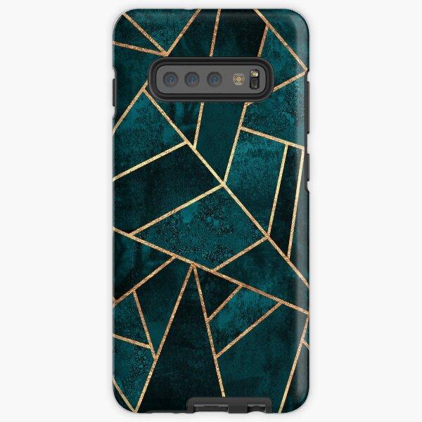 Deep Teal Stone Samsung Galaxy Tough Case