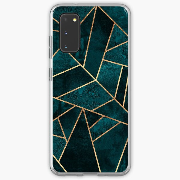Deep Teal Stone Samsung Galaxy Soft Case
