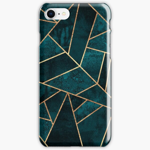 Deep Teal Stone iPhone Snap Case