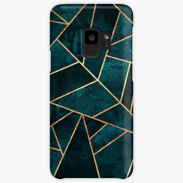 Deep Teal Stone Samsung Galaxy Snap Case